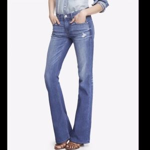 Express Mia Mid Rise Slim Flare Jeans NWT